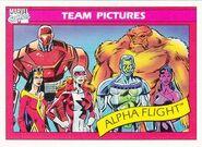 Alpha Flight (Earth-616) from Marvel Universe Cards Series I 0001