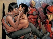 Anthony Stark (Earth-616) and Maria Hill (Earth-616) from Invincible Iron Man Vol 2 10 001
