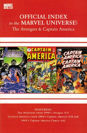 Avengers, Thor & Captain America Official Index to the Marvel Universe Vol 1 14