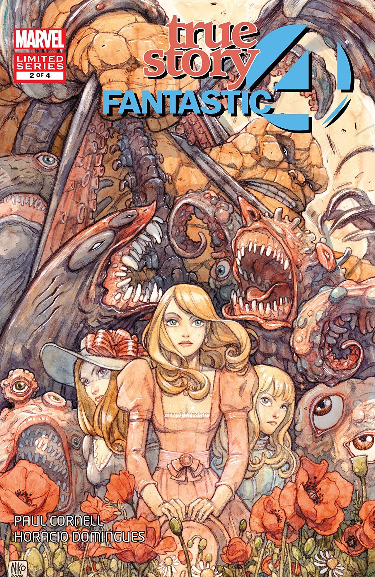 Fantastic Story Magazine 1950 Pulp Comic Books: Fantastic Four: True Story Vol 1 2