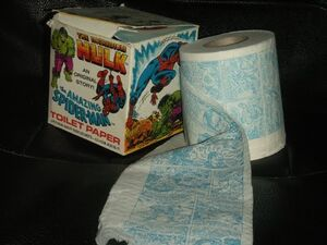 Marvel Comics Toilet Paper from Oh! Dawn