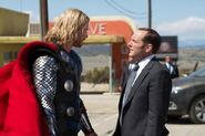 Thor Odinson (Earth-199999) and Phillip Coulson (Earth-199999) from Thor (film) 001
