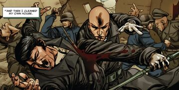 Charles Xavier (Earth-13410) and Adolf Hitler (Earth-13410) from X-Treme X-Men Vol 2 11 0001