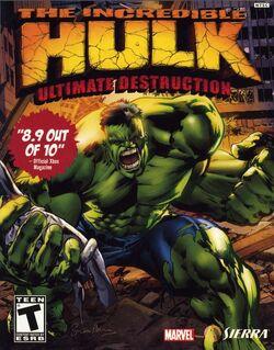 Incredible Hulk Ultimate Destruction Front Cover