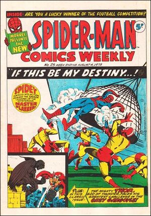 Spider-Man Comics Weekly Vol 1 25