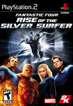 Fantastic Four Rise of the Silver Surfer PS2 cover