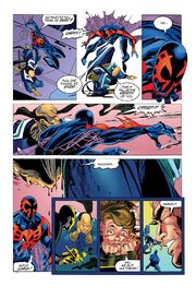 Miguel O'Hara (Earth-928) kills Specialist (Earth-928) from Spider-Man 2099 Vol 1 5 001