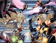 Cyberforce (Earth-7642), Mighty Avengers (Initiative) (Earth-7642), and Thunderbolts (Earth-7642) from Fusion Vol 1 1 003