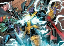A.V.E.N.G.E.R.S. Initiative (Earth-15061) vs. Thanos (Earth-15061) from U.S.Avengers Vol 1 2 001