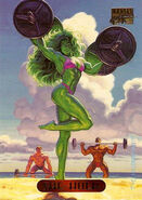 Jennifer Walters (Earth-616) from Marvel Masterpieces Trading Cards 1994 Set 0001