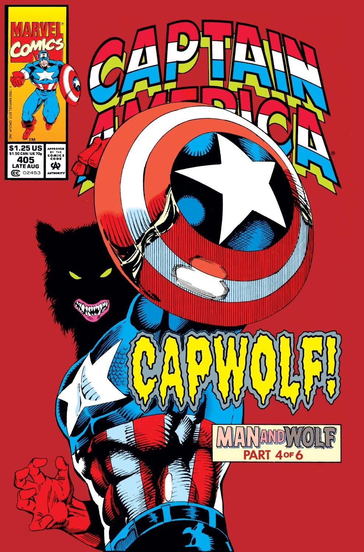 Captain America #406 Man Wolf Marvel Comics Stock Photo