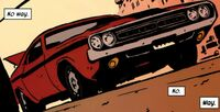Hawkeye's 1970 Dodge Challenger from Hawkeye Vol 4 3 0001