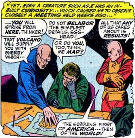 Mad Thinker (Earth-616) with Egghead and the Puppet Master