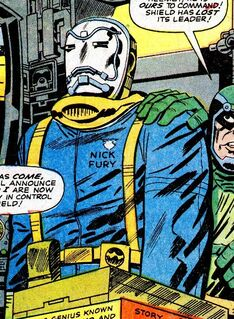 Nick Fury enslaved by an Electro Mask from Strange Tales Vol 1 143