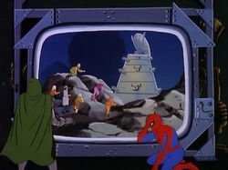 Victor von Doom (Earth-8107), Peter Parker (Earth-8107), and Latverian Resistance (Earth-8107) from Spider-Man (1981 animated series) Season 1 19 001