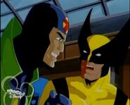 Wolverine (Logan) (Earth-92131) & James Madrox (Earth-92131) from X-Men The Animated Series Season 3 15 001