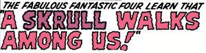 Fantastic Four Vol 1 18 Title