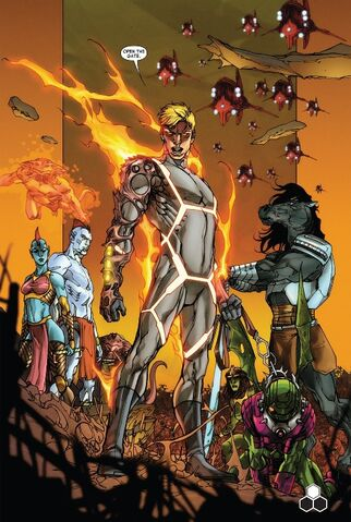 File:Human Torch, Light Brigade, Annihilus.jpg