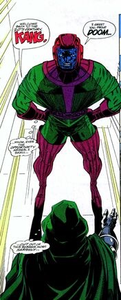 Kang and Dr. Doom working together in Infinity War Vol 1 1