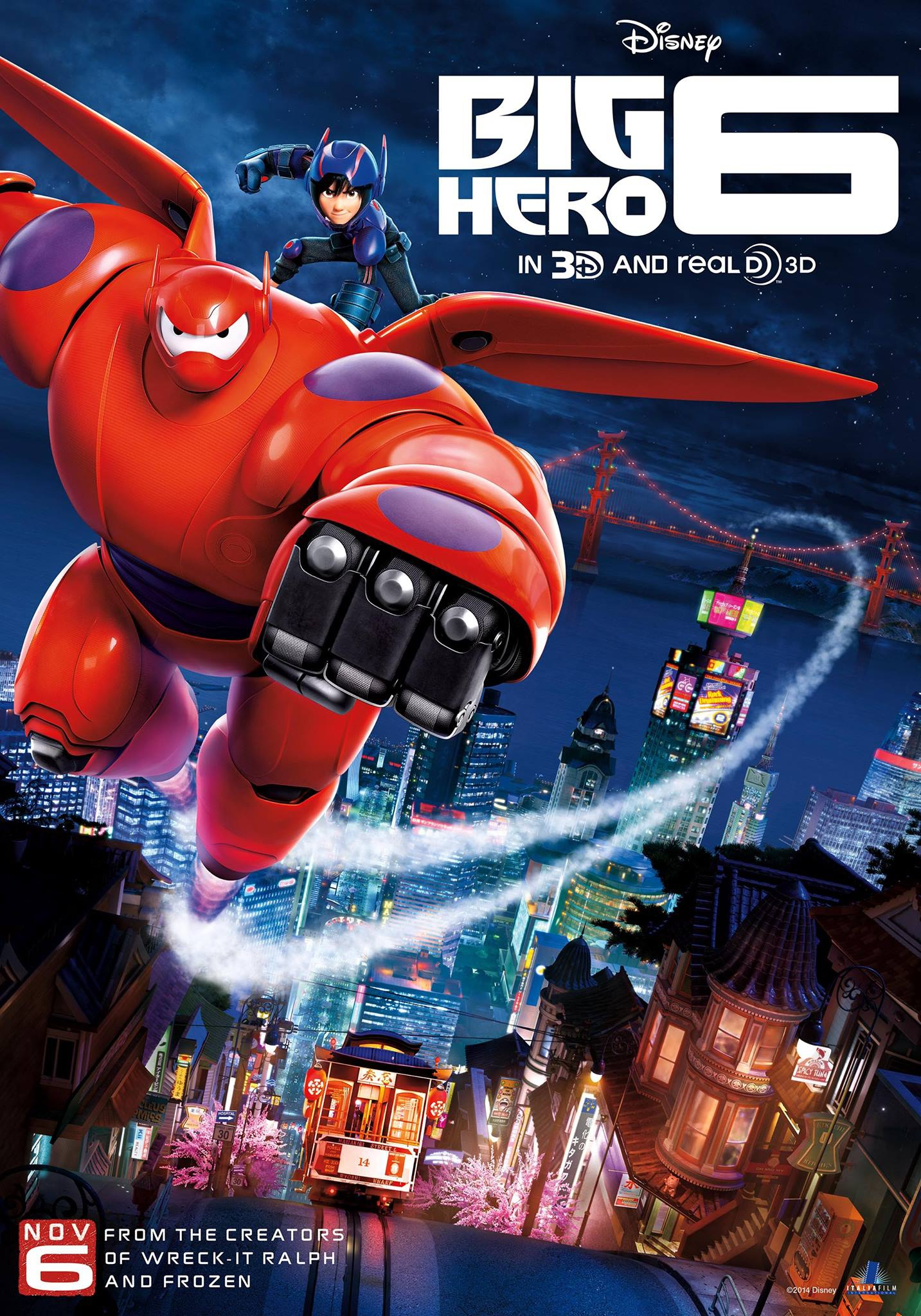Big Hero 6 2014 BluRay 720p 500MB Dual Audio ( Hindi – English ) ESubs MKV