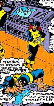 Cerebro, Jean, Scott, Beastie (Earth-9047) from What The-- Vol 1 25