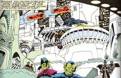 Skrull Destructor-class Cruiser from Fantastic Four Vol 1 358