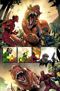 Anthony Stark (Earth-616), Moon-Boy (Earth-Unknown), Devil Dinosaur (Earth-Unknown), and Nigel Higgins (Earth-616) from Contest of Champions Vol 1 1 001