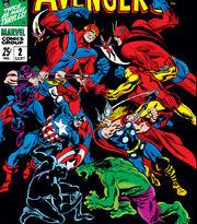 Avengers (Earth-616) vs Avengers (Earth-689) from Avengers Annual Vol 1 2