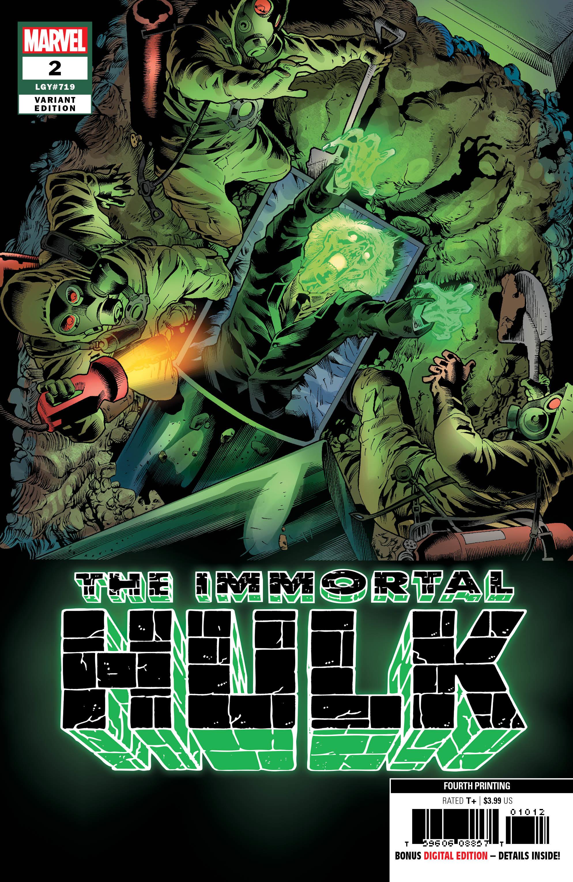 The Immortal Hulk #3 4th Printing Marvel NM Comics Book