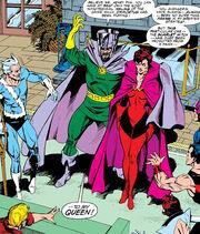 Nathaniel Richards (Immortus) (Earth-6311), Wanda Maximoff (Earth-616), and Avengers West Coast (Earth-616) from Avengers West Coast Vol 2 60 001