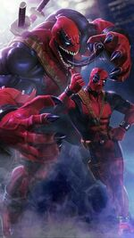 Venompool (Earth-TRN517) and Wade Wilson (Earth-TRN517) from Marvel Contest of Champions 001