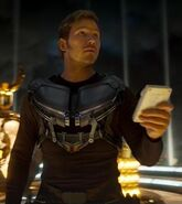 Peter Quill (Earth-199999) wearing Aerorig from Guardians of the Galaxy Vol. 2 (film) 001