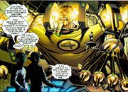 Reed Richards (Earth-616) and Deviant Skrulls from New Avengers Illuminati Vol 2 1