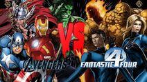 Avengers vs fantastic four poster