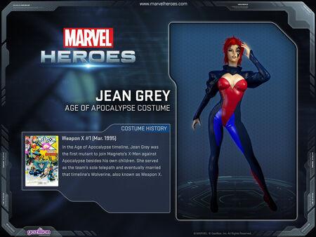 Costume jeangrey AoA