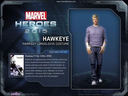 Costume hawkeye longsleeve