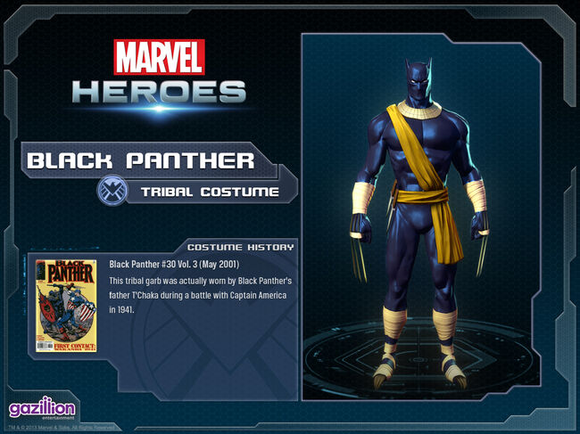 Costume blackpanther tribal