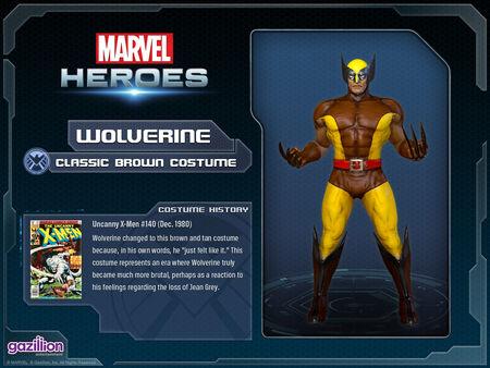 Costume wolverine brown