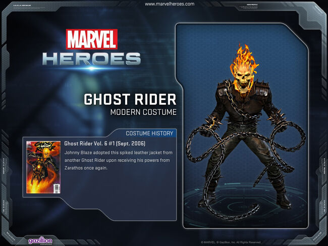 Costume ghostrider modern