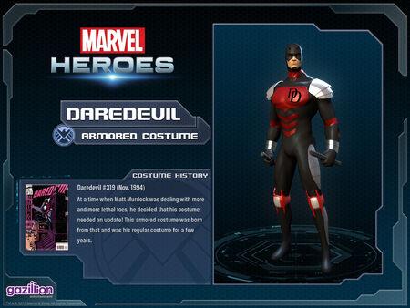 Costume daredevil armored