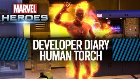 Marvel Heroes Developer Diary 5 - Designing The Human Torch