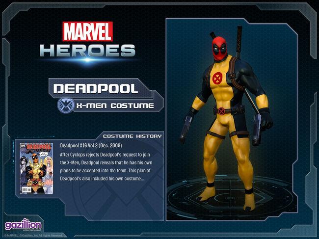 Costume deadpool xmen