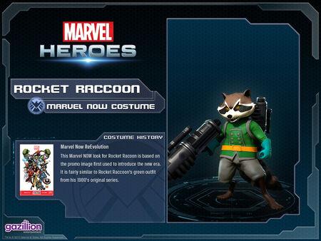 Costume rocketraccoon marvelnow