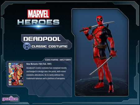Costume deadpool classic