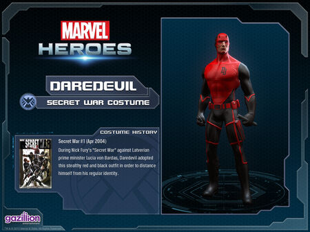 Costume daredevil secretwar