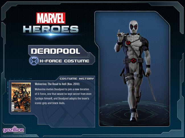 Costume deadpool xforce