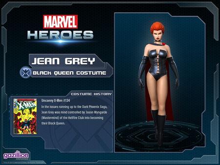 Costume jeangrey blackqueen