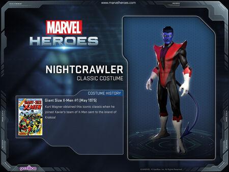 Costume nightcrawler classic