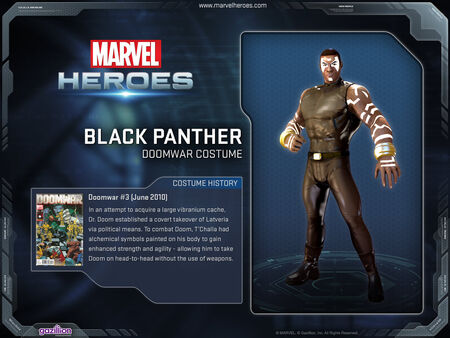 Costume blackpanther doomwar