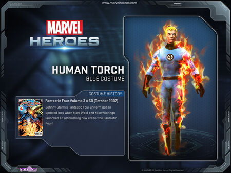 Costume humantorch blue
